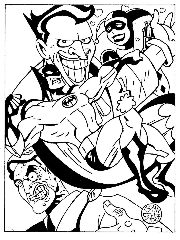 Batman coloring page by Batman4art