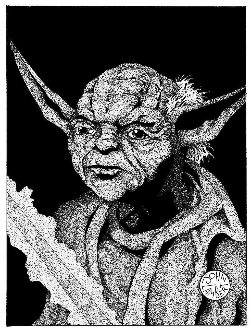 Yoda by Batman4art