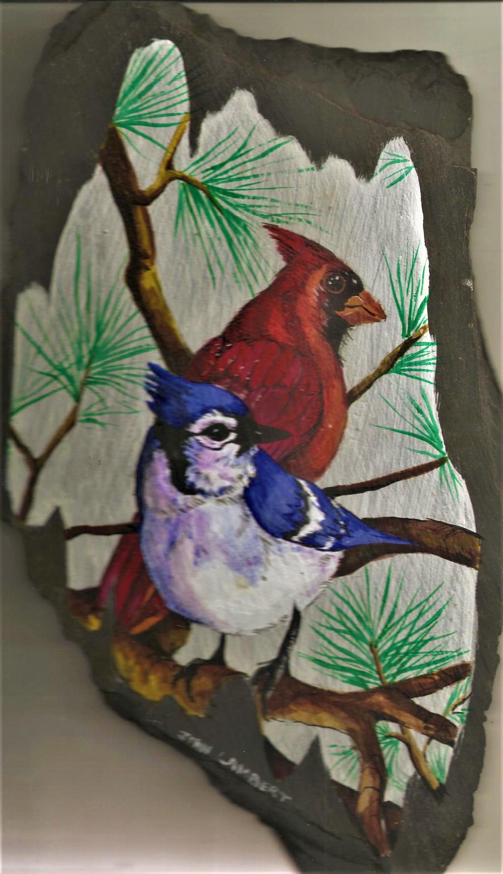 Birds on Slate by Batman4art
