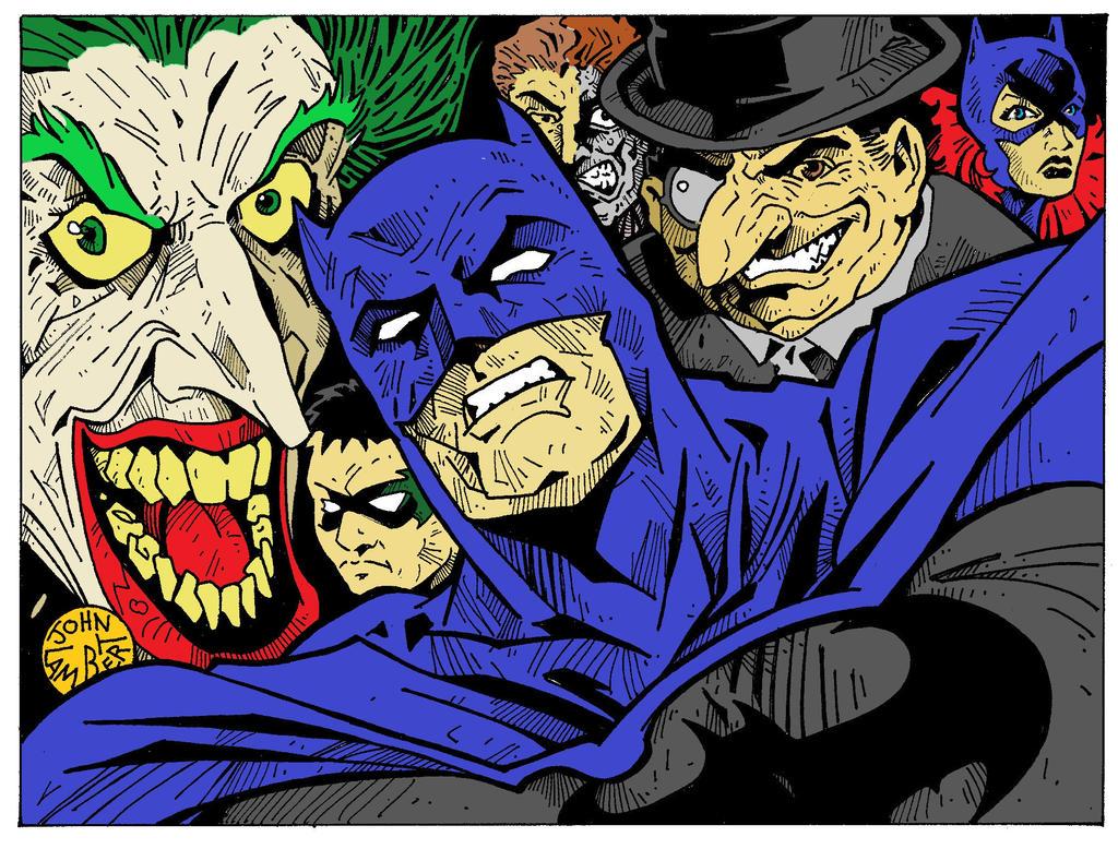 Batman desktop by Batman4art