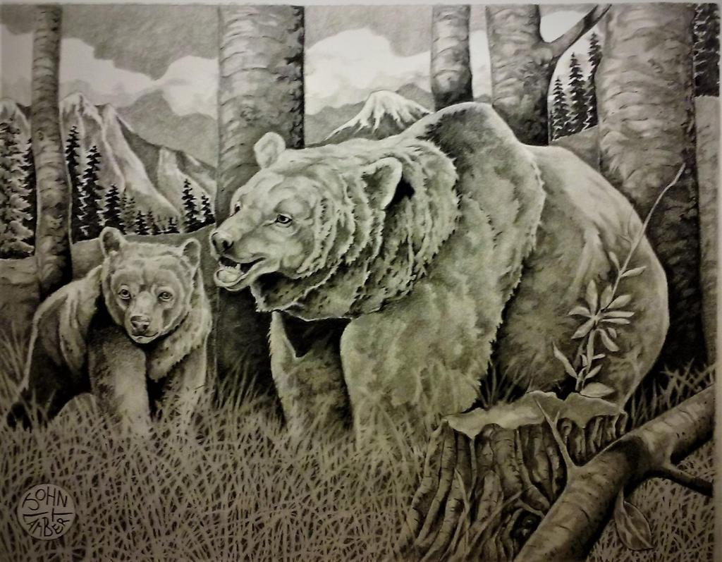 Grizzly  cub by Batman4art