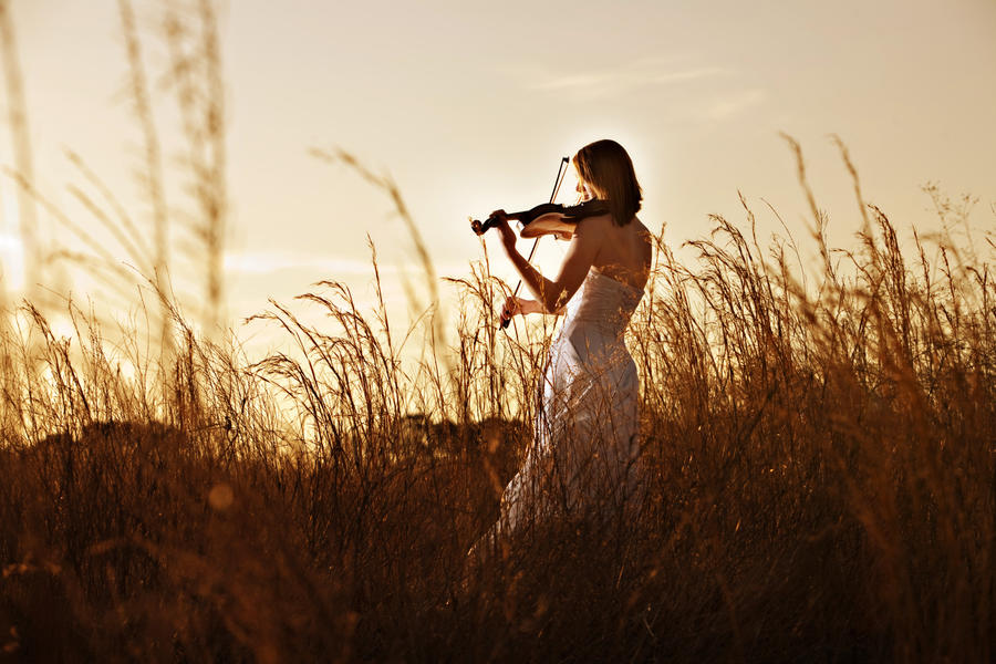 Violin Bride I by MikeRossPhotography