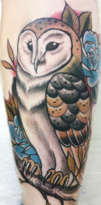 Tattoo- Owl by Proper-goodbye