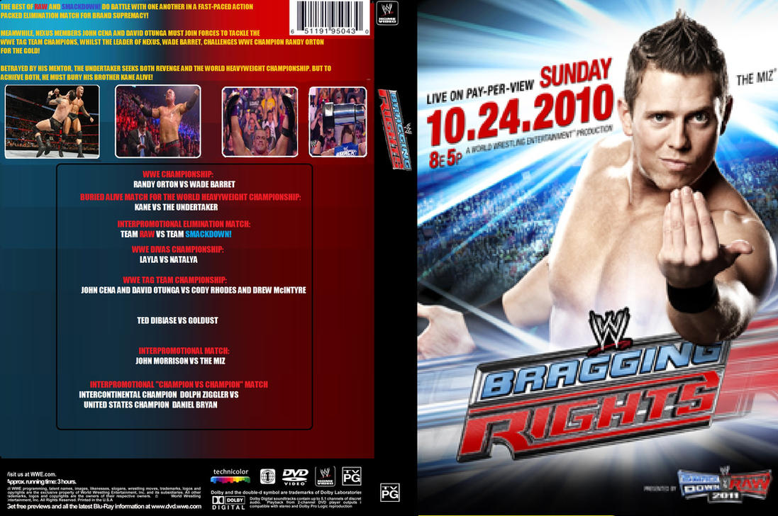 WWE Bragging Rights 2010 DVD Cover by ZT4