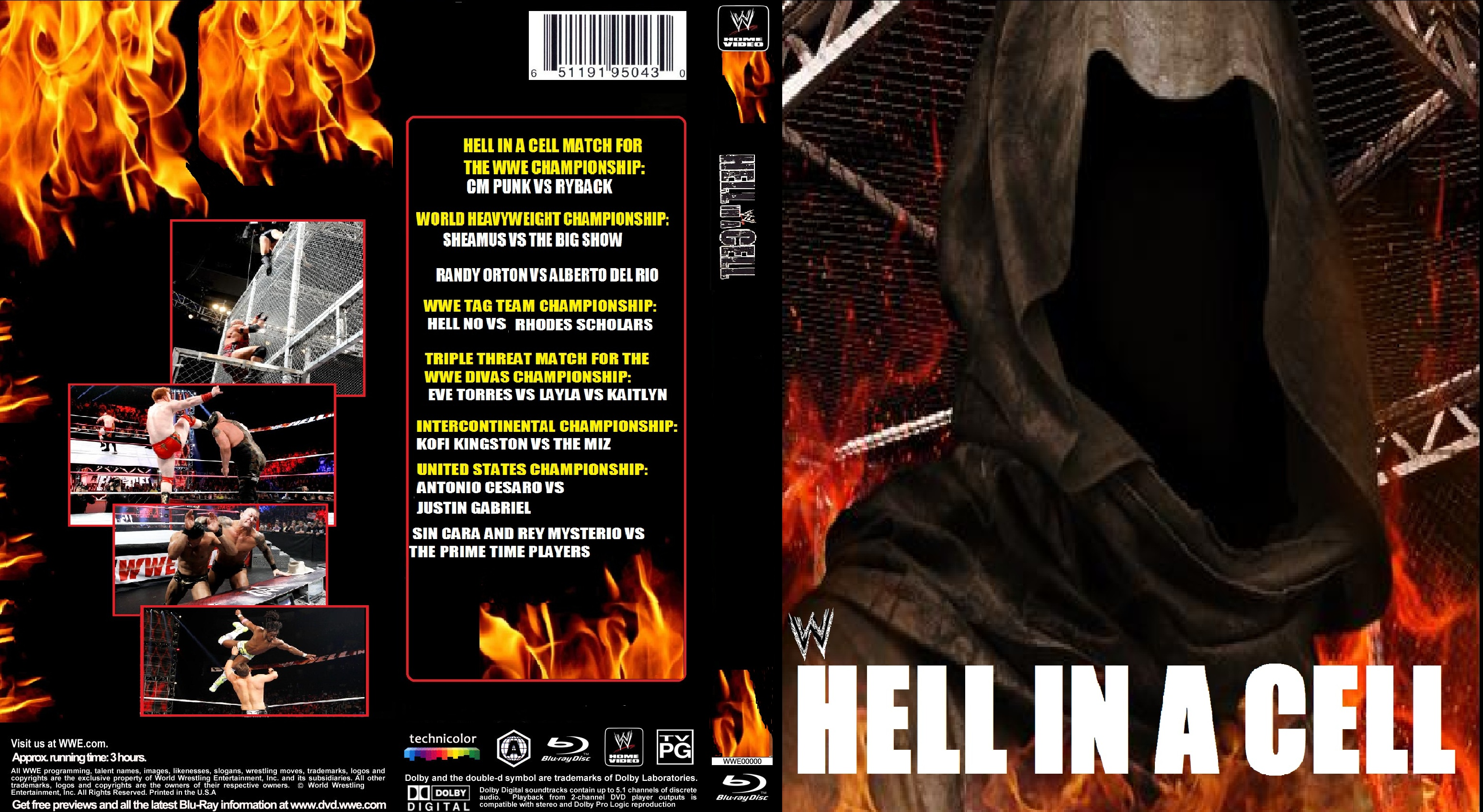 WWE Hell In A Cell 2012 Blu-Ray by ZT4 on DeviantArt