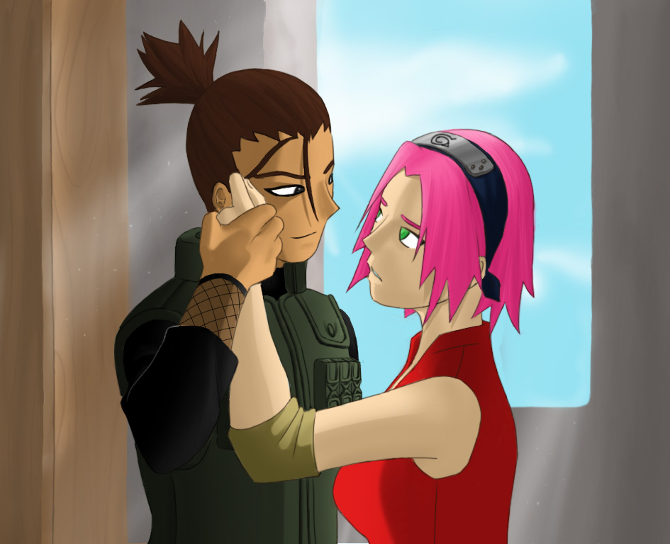 shikamaru and sakura by glass04 on deviantart