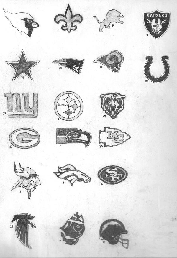 Holiday Coloring Pages nfl football coloring pages NFL Logos by cruelenigma on DeviantArt