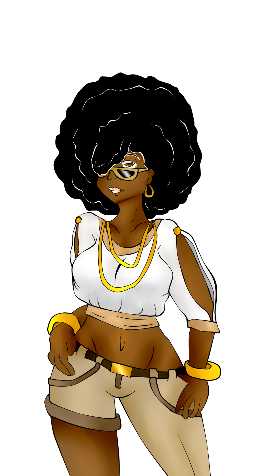Afro Girl By Michilee On Deviantart