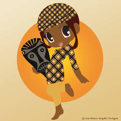 Africa Chibi by MeisterVonDraught