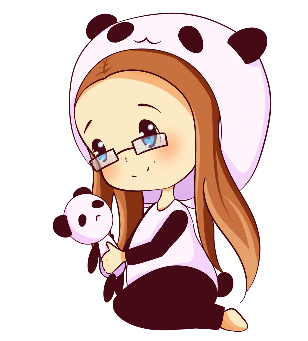 Panda Chibi Girl Emo Daily Inspiration Quotes