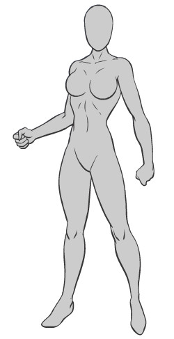 superhero base -FEMALE- by Shadowtheheadgehogg