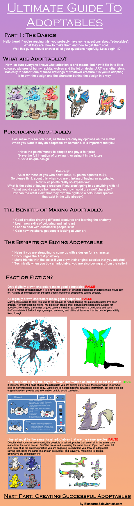 Ultimate Guide to Adoptables 1 by Torotix