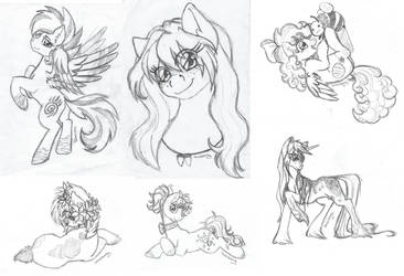 OC sketch dump #1 by DarkCherry87