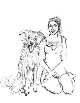 DEJ 2019 A girl and a dog