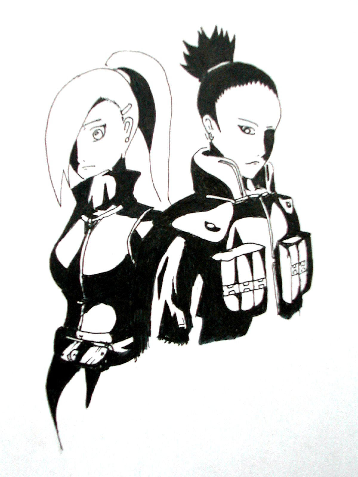 ino and shika by deathchain