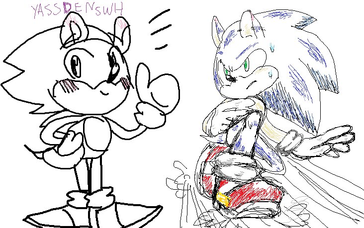 A Sonic Doodle 1 by YASSDENSWH
