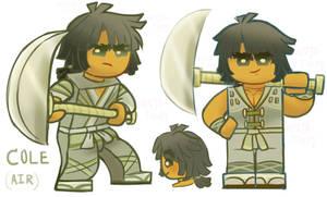 ninjago opposites (au#86) cole Wind