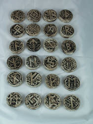 Hand made Norse Runes