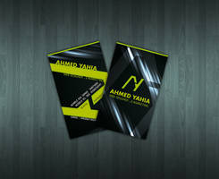 ahmed Yahia Card Design by ahmedelzahra