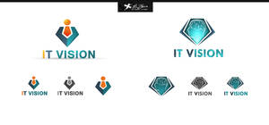 IT Vision Logos Design by ahmedelzahra