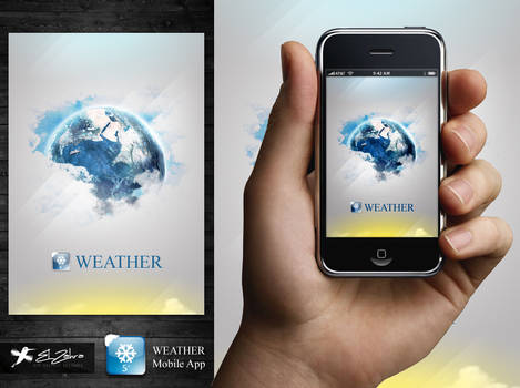 weather mobile app design by ahmedelzahra