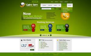Cairo Server website design by ahmedelzahra