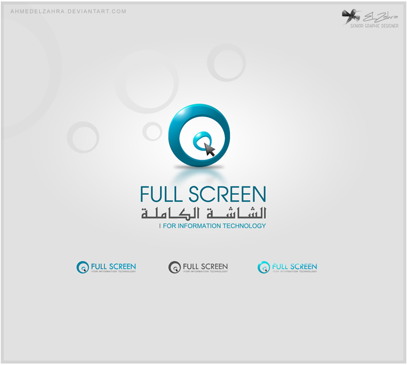 Full Screen Blue Logo by ahmedelzahra