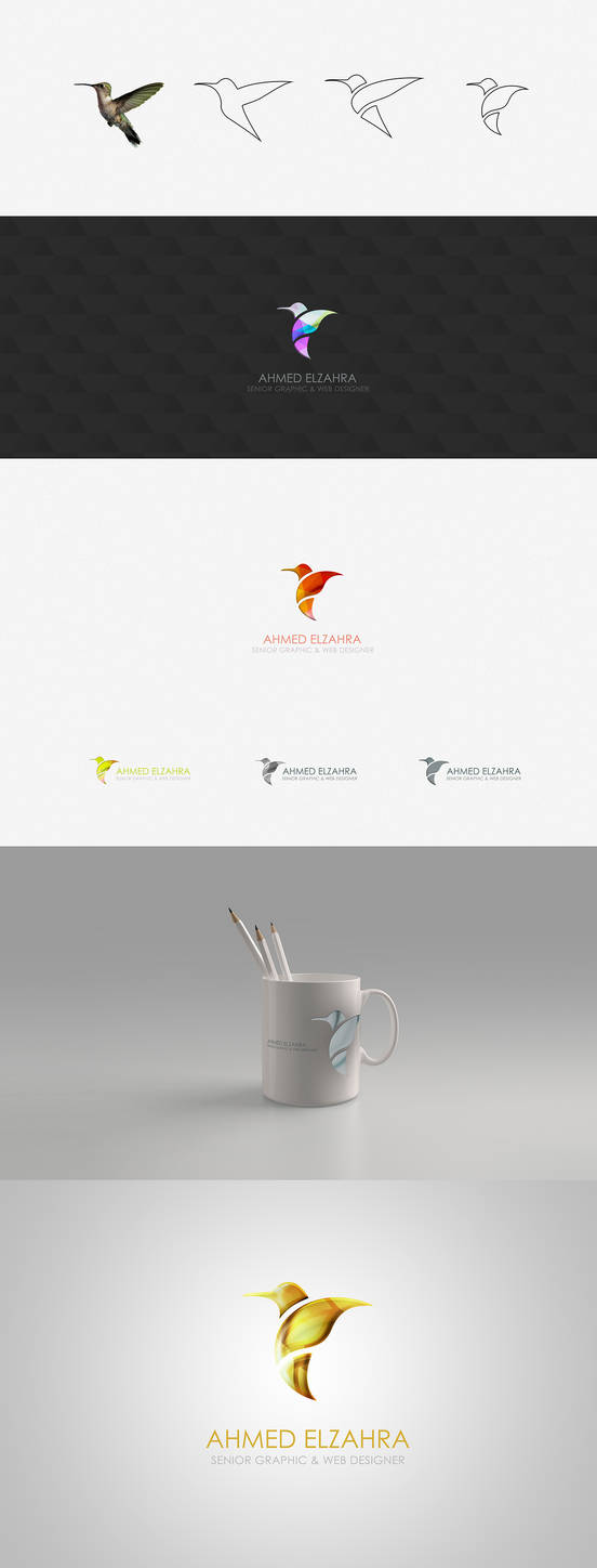 Humming Bird Logo Design by ahmedelzahra