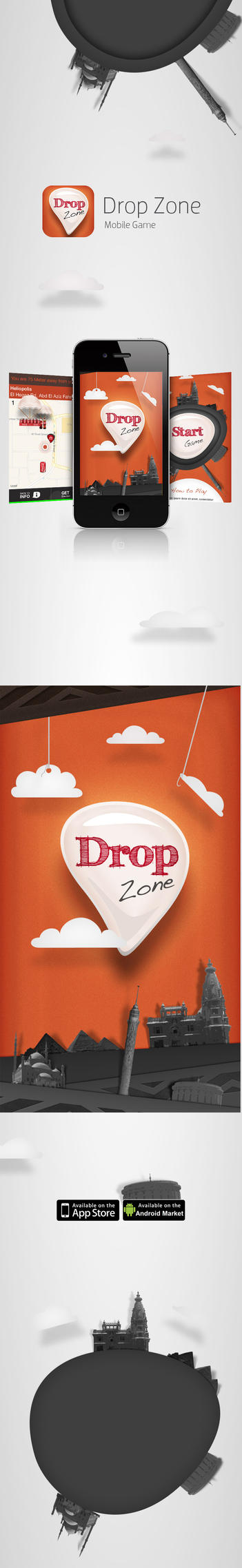 Drop Game for iPhone and Android by ahmedelzahra