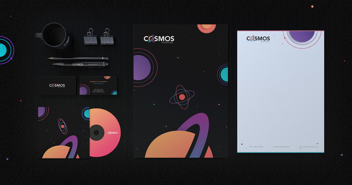 Creative Branding Design for Cosmos by ahmedelzahra