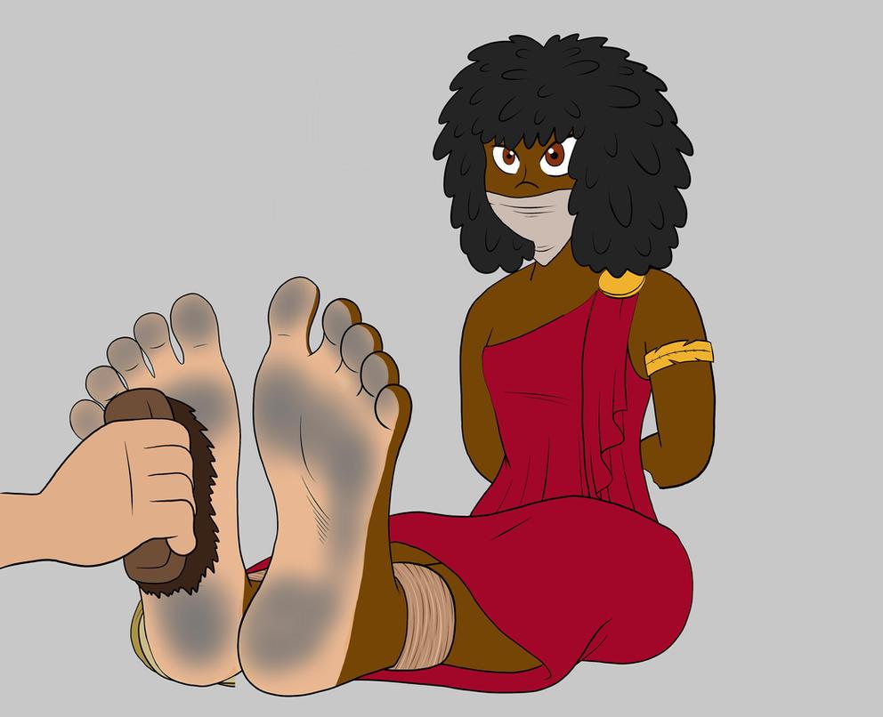 Nubia Tickling A by Phuram