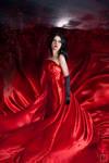 Red Dress    moon more birds shards