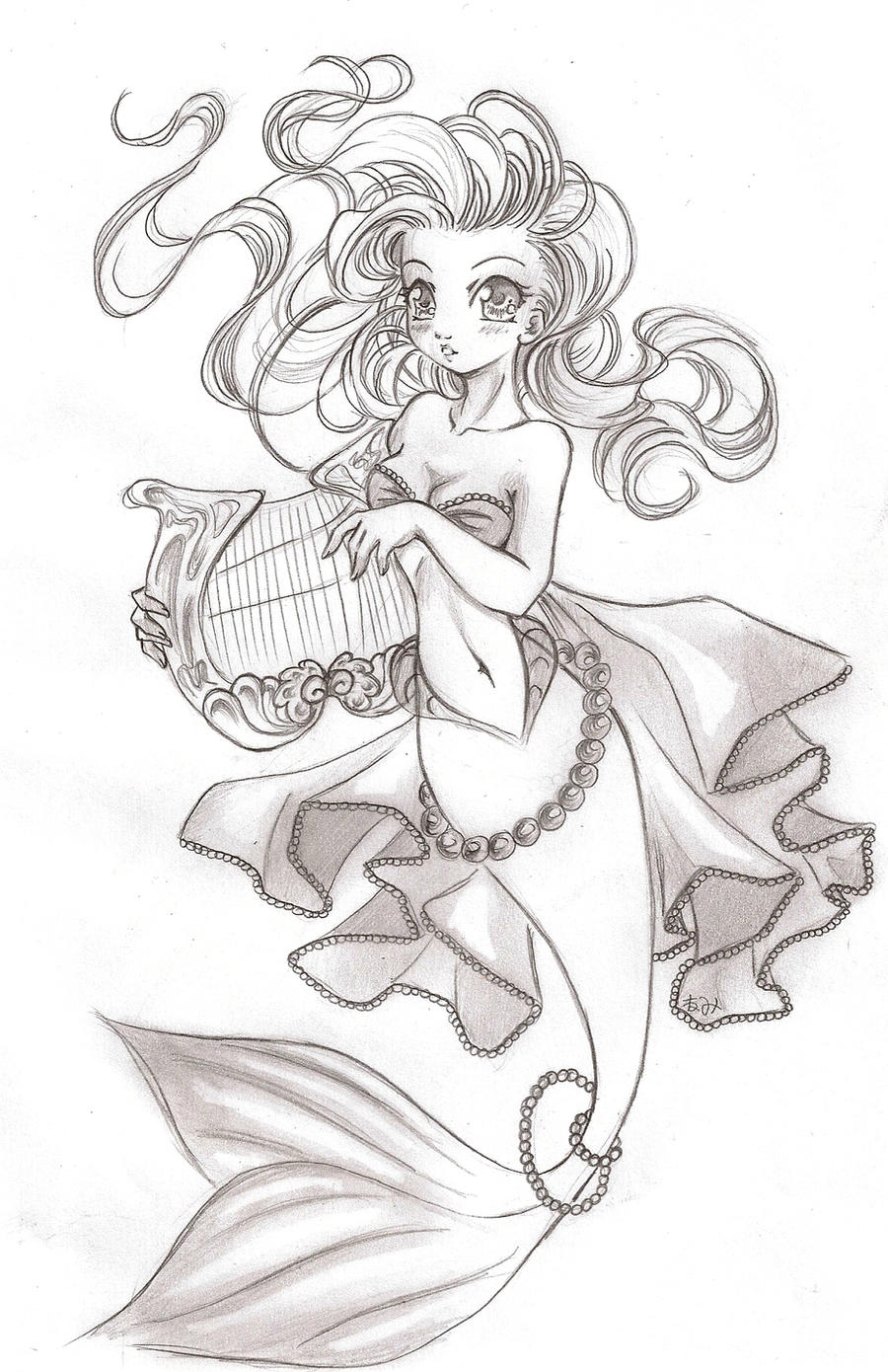 Anime Mermaid Drawing Images & Pictures - Becuo