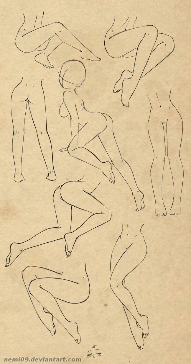 Legs study by NeMi09