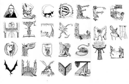 Lovecraft Alphabet A-Z
