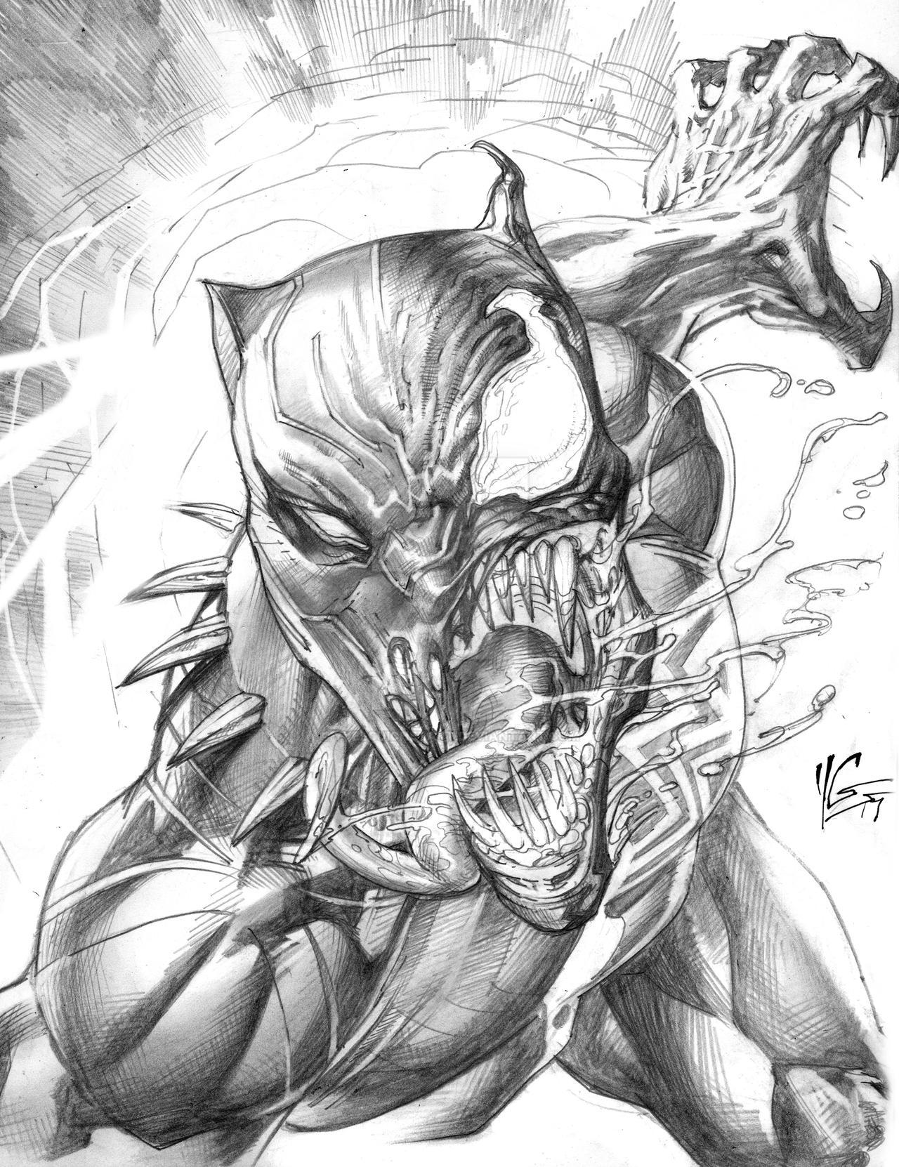 Black Panther Venomized By Yvelguichetart On DeviantArt
