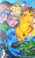 Oil Painting - Three Goddesses