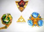 [Video] Drawing - Spiritual Stones - Zelda