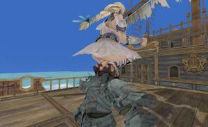 Sophitia Attacks Siegfried