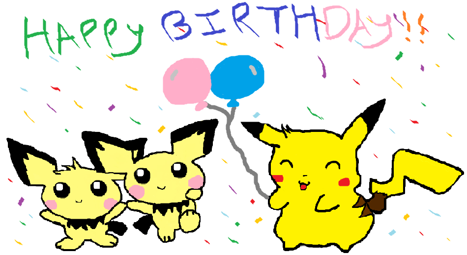 pokemon birthday card.  by dangodesu on deviantart, Birthday card