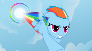 Sonic Rainboom - Wallpaper