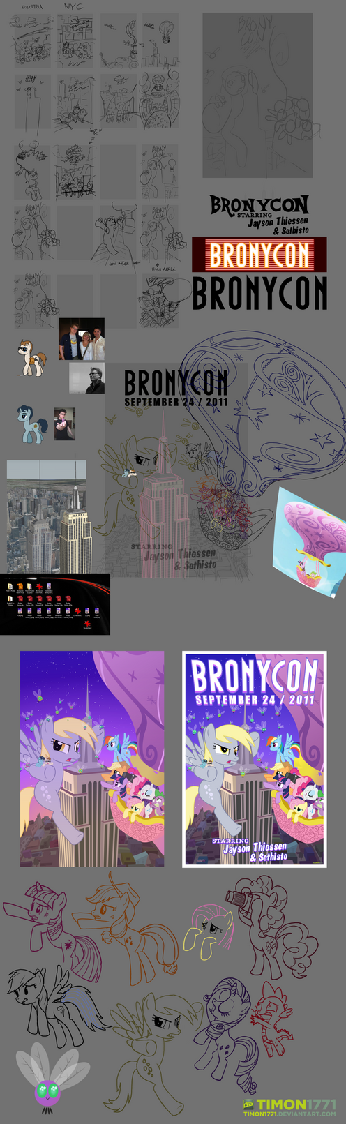 Bronycon Poster Progression by Timon1771