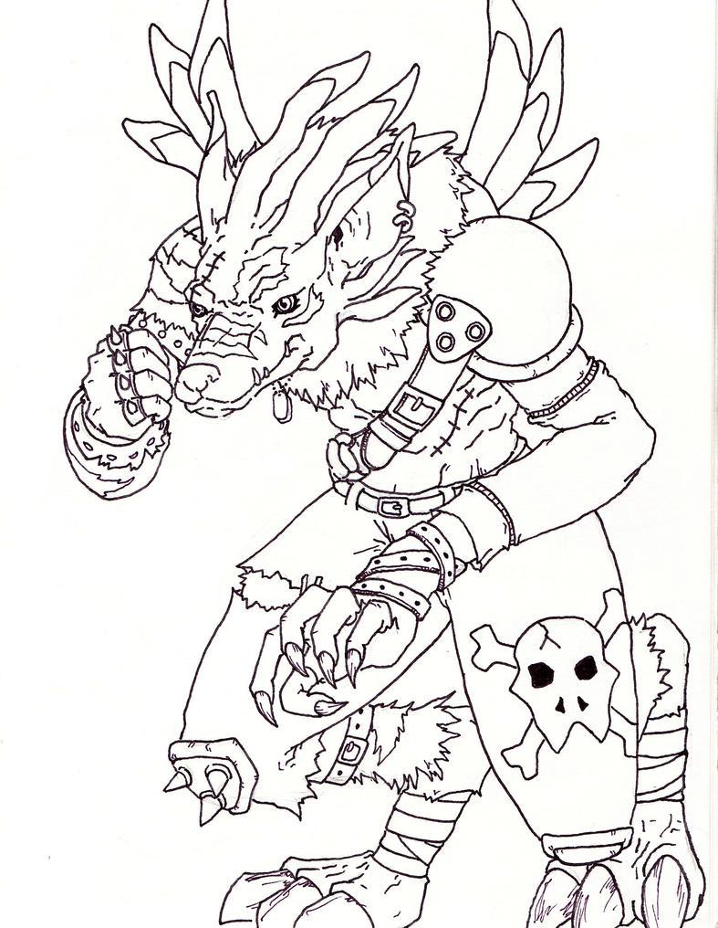 digimon weregarurumon coloring pages-#15