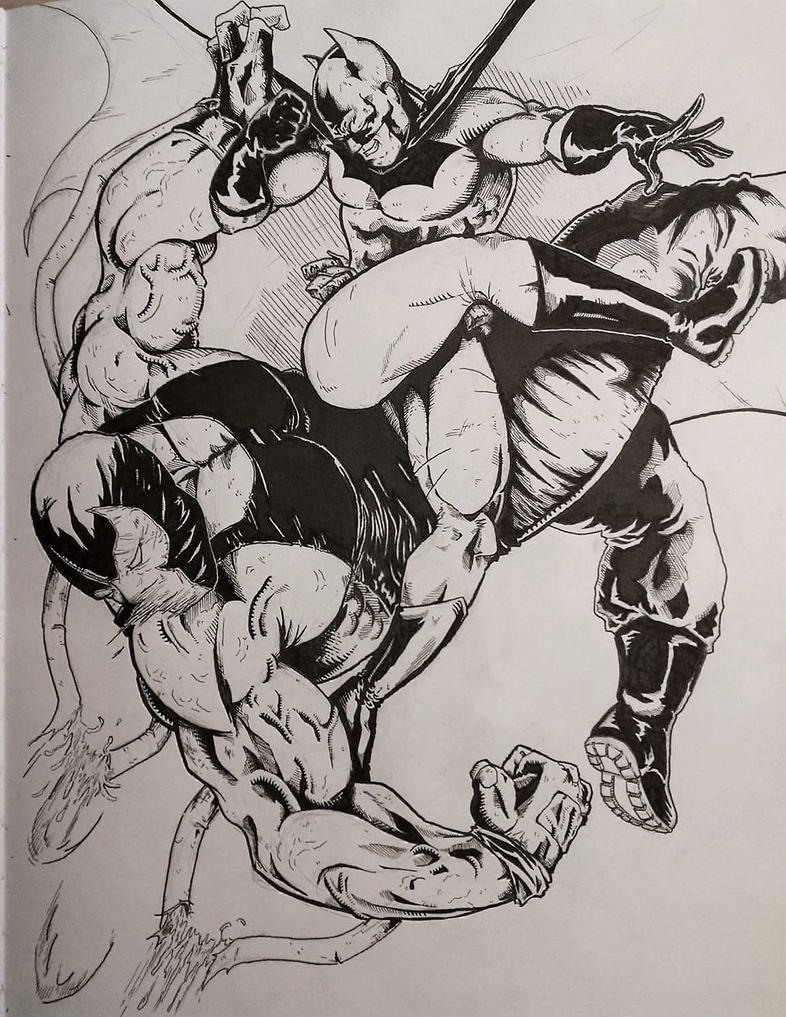Bats -v- Bane by Escape-to-darkness