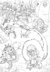 Namek saga - Gohan and Krillin save Dende by Escape-to-darkness
