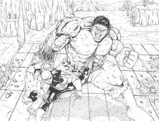 Jiren-v-Hulk by Escape-to-darkness