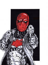 Red Hood Commission Grey scale/color by Escape-to-darkness