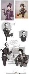 Sherlock Sketch - Dump II by paperpixy