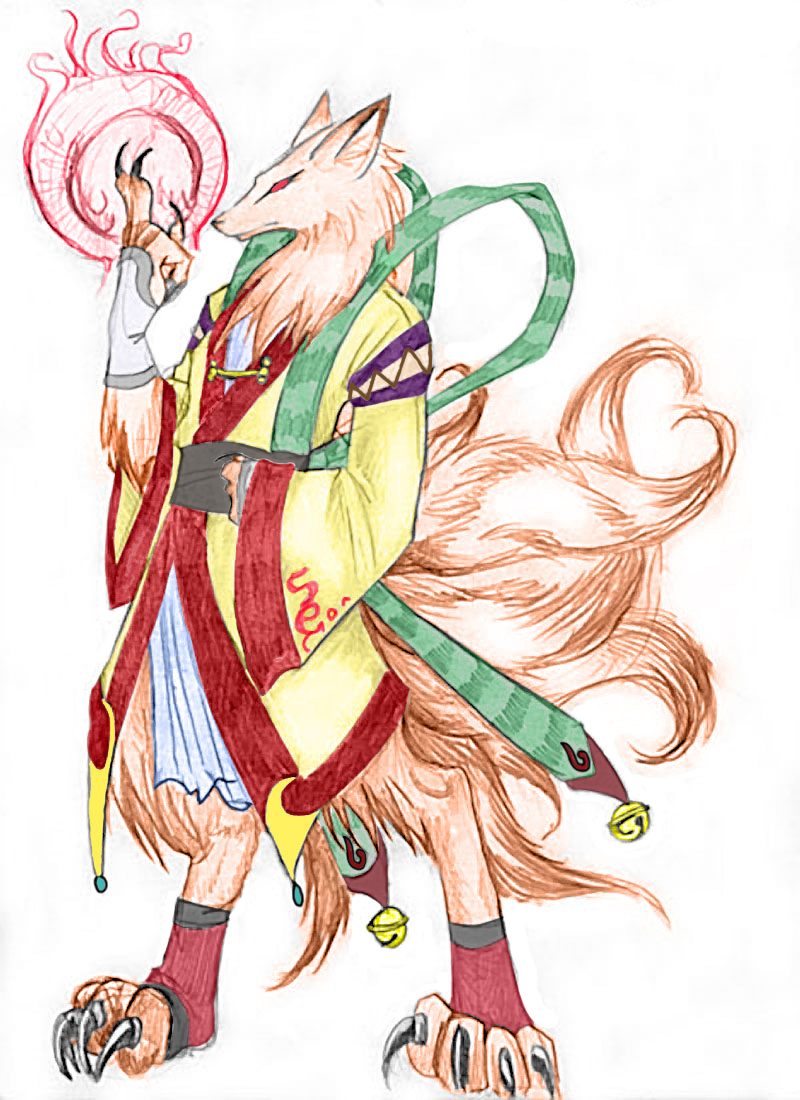 Nine-Tailed Fox - Human Form by LordSerion on DeviantArt