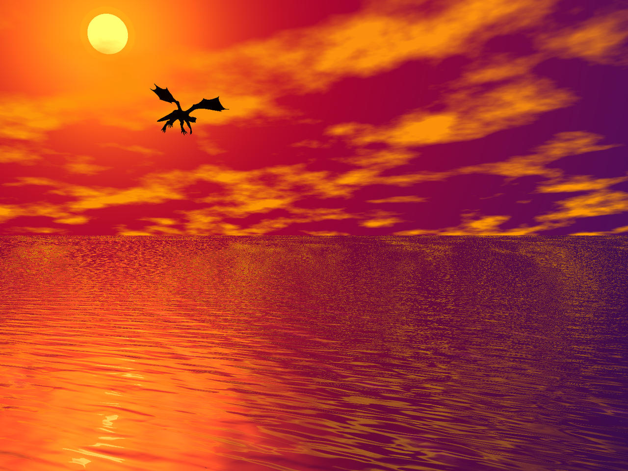 Dragon of sunset by Linnunlento on DeviantArt |Dragons And Sunsets